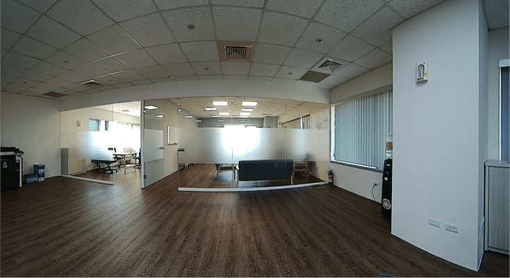 180°panoramic mini bullet camera photo of the office