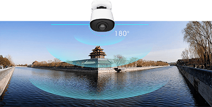 180° Panoramic View of the panoramic bullet camera>