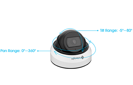 3-Axis Design, Weather-proof Mini Dome Camera